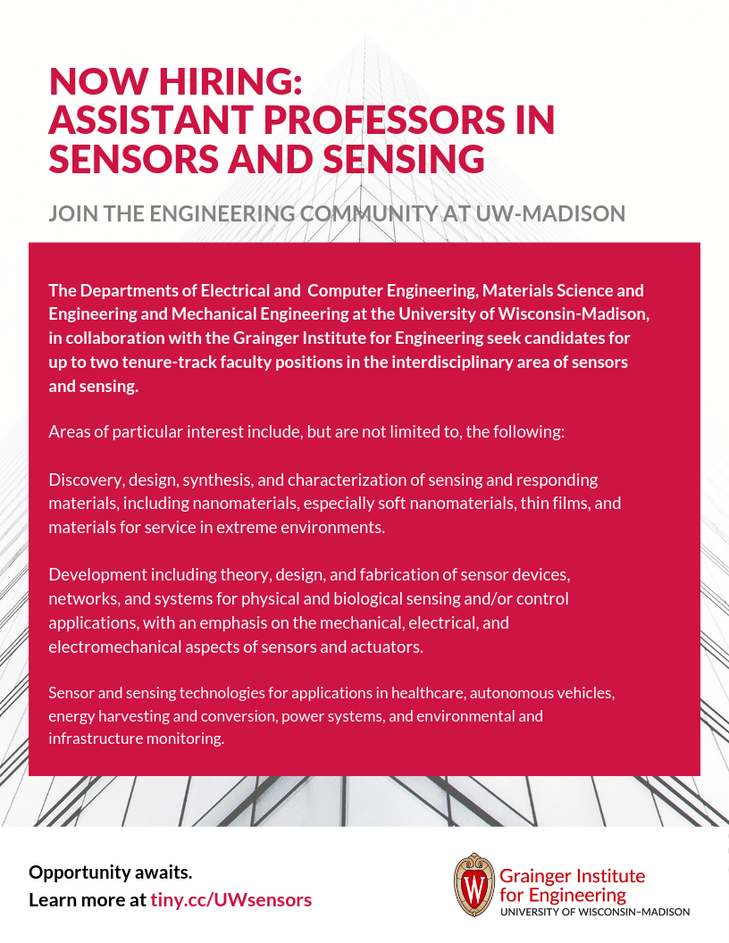 Sensors Recruitment Flyer