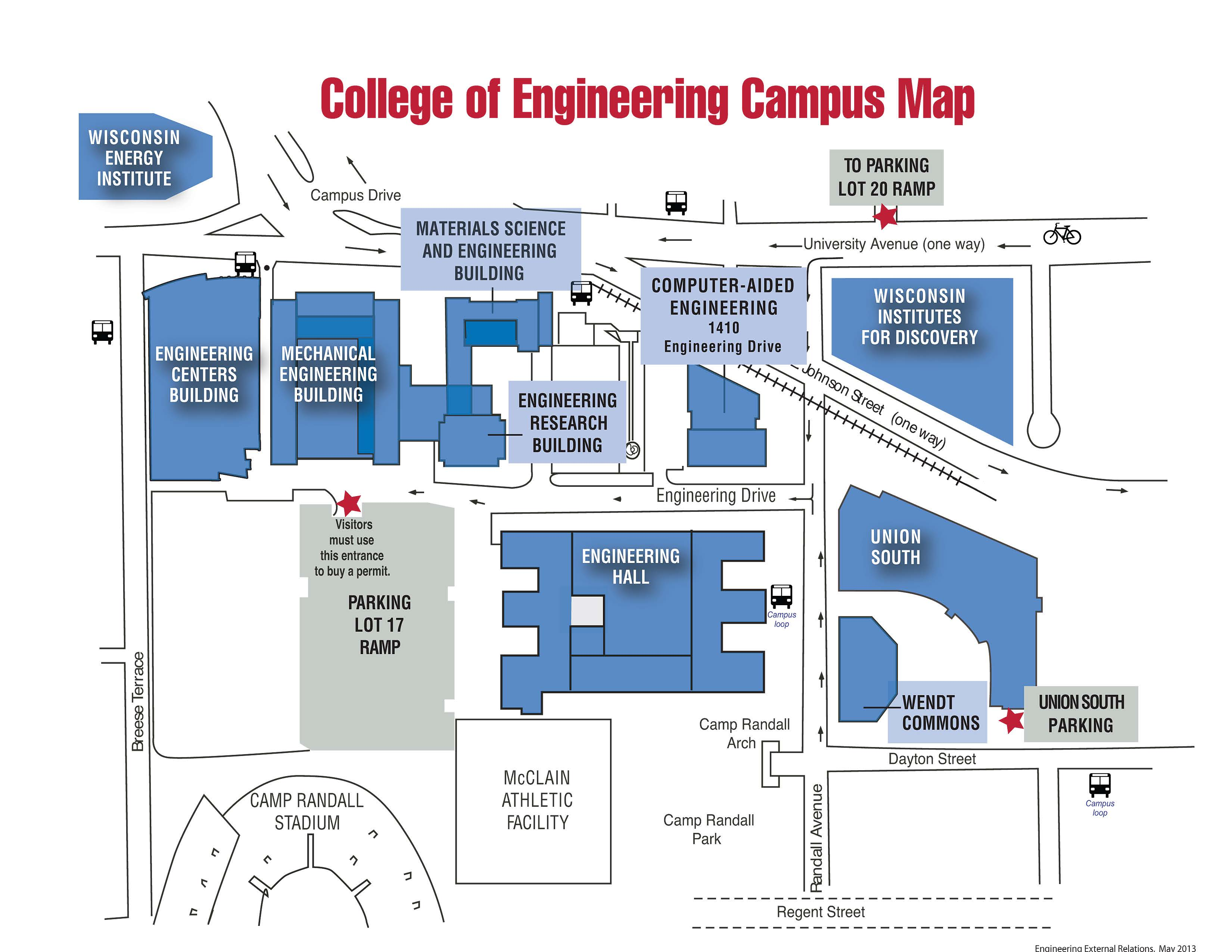 college of engineering campus map