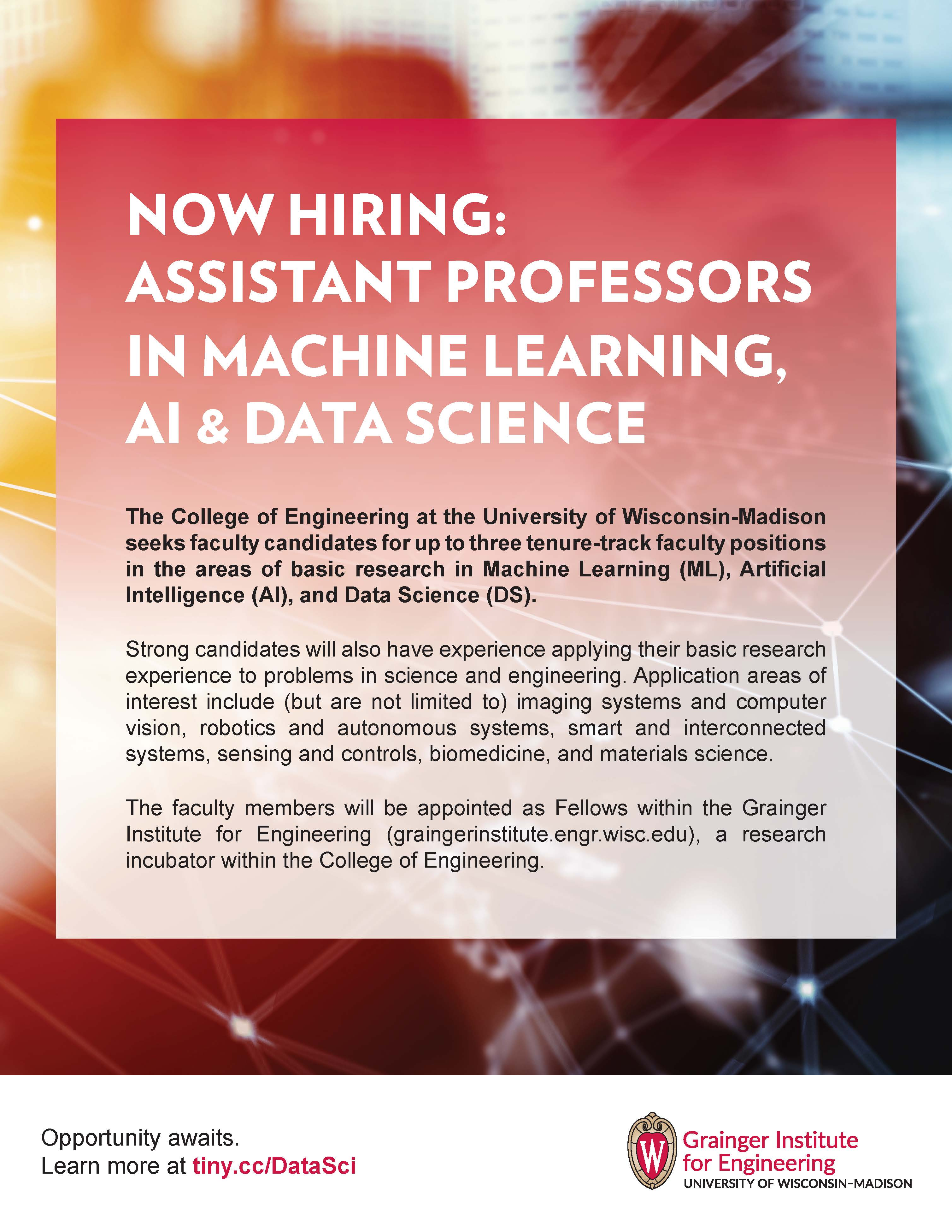 ASSISTANT PROFESSOR IN MACHINE LEARNING, AI & DATA SCIENCE