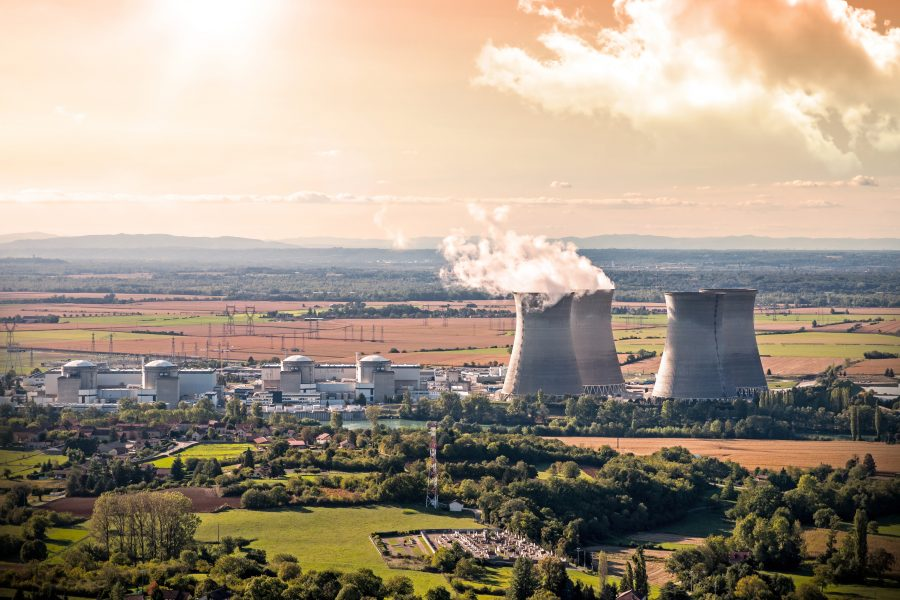 Nuclear Power Station aerial view