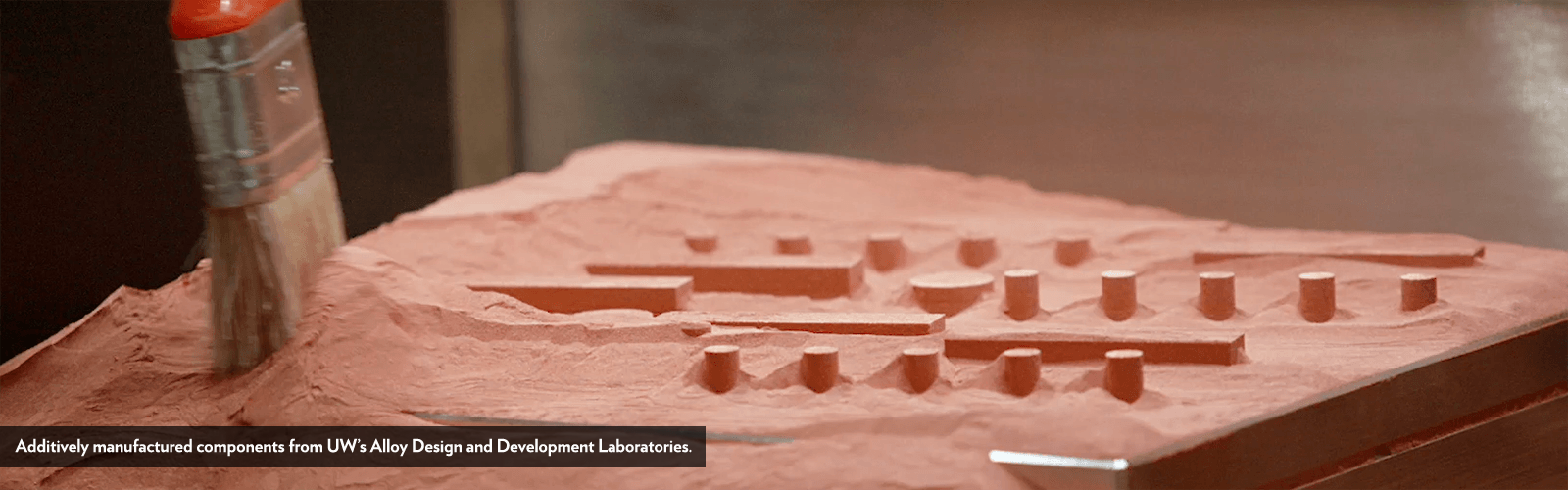 Additively manufactured components from UW's Alloy Design and Development Laboratories