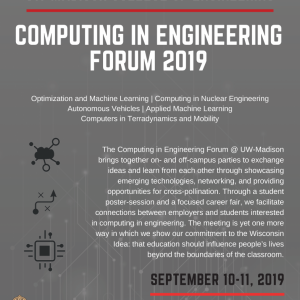 Computing in Engineering Forum Flyer