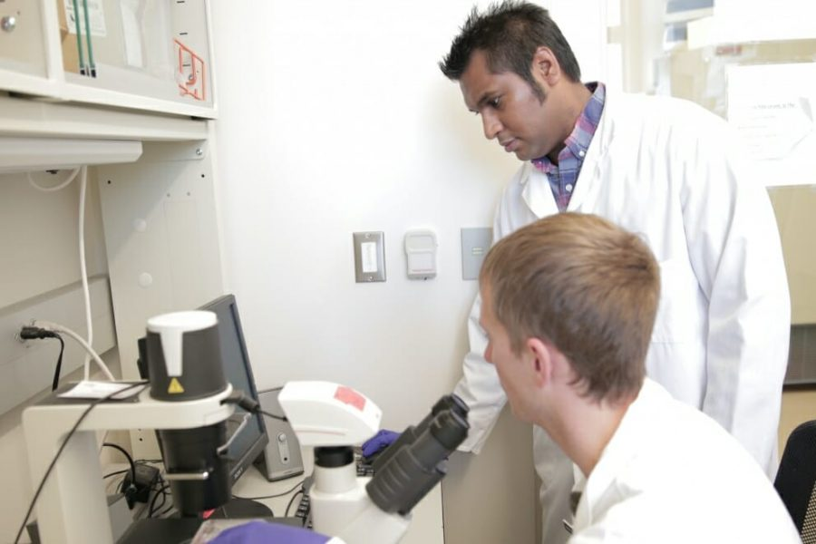 Kris Saha in the Lab