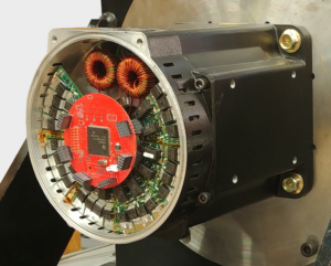 An integrated motor drive developed by WEMPEC faculty combines the electric motor and required drive electronics in a single package offering potential for improved density and reduced weight. The U.S. Army-funded work will explore using and optimizing integrated motor drives for hybrid-electric aircraft applications.